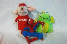 "Marvel Spider-man 7"" Bath Frog Olivia Pig 10"" Plush Soft Toy Stuffed Animal"