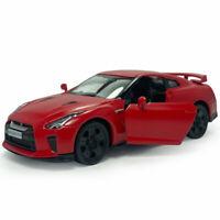1:36 Nissan GTR R35 Model Car Diecast Toy Pull Back Vehicle Doors Open Red Kids