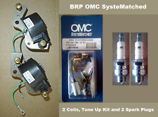BRP Johnson Evinrude 3 4 5.5 6 7.5 HP Tune Up Kit  2 BRP Coils 2 Spark Plugs J6C