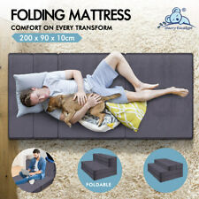 Starry Eucalypt Folding Mattress Bamboo Fabric Foldable Sofa Lounge King Single