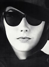1960's Vintage FEMALE FASHION Sunglasses Hat Woman 16x20 Photo Art WINGATE PAINE