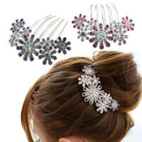 Bridal Sparkly Rhinestone Flower Party Wedding Hair Comb Hairpin Clip Jewelry G