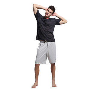 Godsen Men's Cotton Pyiamas Loungewear Shorts Casual Sleepwear Set
