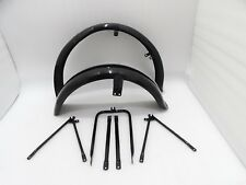 NEW MATCHLESS G3L AJS 16M MILITARY MODEL BLACK PAINTED MUDGUARD SET & STAYS