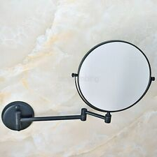 Wall Mounted Black Oil Brass Magnifying Bathroom Mirror Makeup Cosmetic Mirror