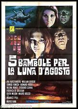 5 BAMBOLE PER LA LUNA D'AGOSTO MANIFESTO CINEMA MARIO BAVA FENECH 1970 POSTER 2F