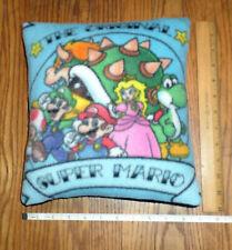 Original Super Mario Gang Small Fleece Fabric Pillow - Handmade in the U.S.A.
