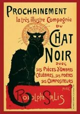 (LAMINATED) LE CHAT NOIR RODOLPHE SALIS TOUR GIANT POSTER (100x140cm) FRENCH CAT