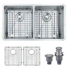 Sokal  33 Ichn 50/50 Kitchen double bowl Sink T304 stainless steel W/Grid