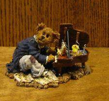 "Boyds Bearstones #227754 CHOPSTICKS BEARTHOVEN...TICKLE THE IVORIES 2.75"" x4.75"""