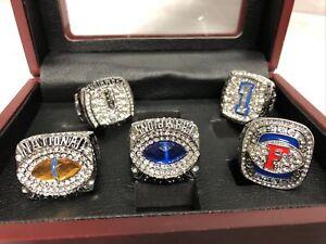 Super Bowl 5 - Rings Florida Gators Football, HARVIN & TEBOW,W/ wooden showcase