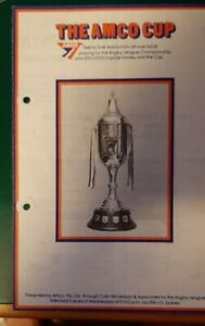1974 Amco Cup Programme, 1st Match 10/4/1974