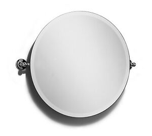 Samuel Heath Large Round Swivel Mirror L1145-XL Satin Nickel BNIB