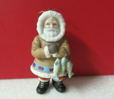 Danbury Mint Greenland Santa Around the World Porcelain Ornament