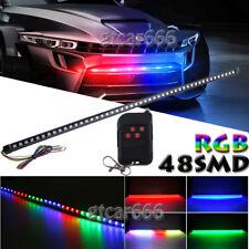 "48SMD 7 Color RGB Universal Car LED Knight Rider Scanner Flash Light Strip 22"""