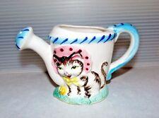 Mid Century Vintage Trimont Ware Japan Cat Kitten In Bonnet Watering Can Creamer