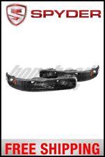 Spyder Xtune Chevy Silverado 99-02 Amber Reflector Bumper Lights Black