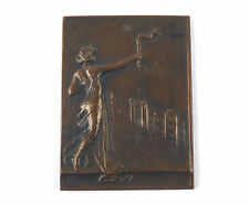 """French Bronze medal """"INAUGURATION OF THE ATHENAEUM CENTRE"""" Medallist Initials MB"""