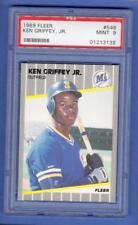 KEN GRIFFEY JR. 989 FLEER #548 PSA-9 MINT ROOKIE RC CARD