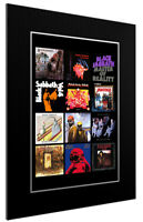 MOUNTED / FRAMED PRINT BLACK SABBATH DISCOGRAPHY - 3 SIZES POSTER GIFT ART