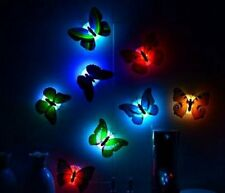 Colorful Butterfly Changing LED Night Light Lamp Home Room Party Desk Wall Decor