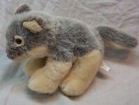 """K&M International CUTE SOFT WOLF 9"""" Plush STUFFED ANIMAL Toy"""