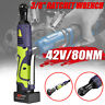 12/18/42V 3/8'' Cordless Electric Ratchet Wrench Tool With Charger Kit Battery.