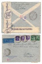 Brief 1941 Italien Mischfrankatur OKW geöffnet Streifen Zensur Censura Zittau !