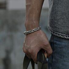 Woven Neutral Retro Handmade Bracelet 925 Sterling Genuine Thai Silver Twisted
