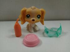 Littlest Pet Shop LPS#79 Orange White Cocker Spaniel Dog w/3 Accessories