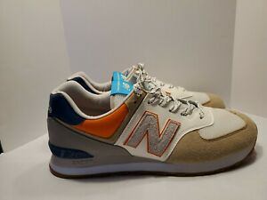 New Balance 574 M574NFT Mens Running Shoes Size 11.5 Beige Gently Used