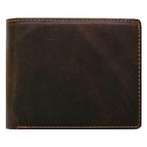 Classic Bi-Fold Brown Genuine Leather Wallet ID Credit Card Holder CASANOVA