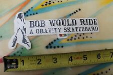 GRAVITY Skateboards Longboard Rasta Reggae Bob Marley Irie Skateboarding STICKER