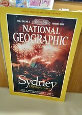 National Geographic August 2000 Sydney Olympic City, map of Olympics