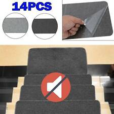 14x Stair Tread Carpet Mats Self Adhesive Non-Skid Step Rug Protection Cover Pad