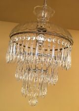 Vintage Lighting 1940s wedding cake crystal chandelier