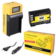 Batteria Patona + caricabatteria Synchron LCD USB per Olympus C5060WZ