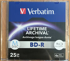 VERBATIM BD-R 25GB Single MDISC Blu-ray-M-Disc