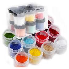 12 Color Velvet Flocking Powder Jumbo Nail Art Polish Acrylic UV for Liquid Set