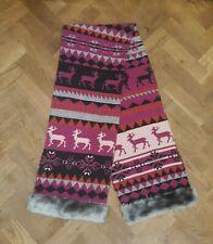 Laura Ashley Women's Winter Knit Pattern Scarf