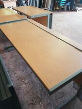 1600mm Desk in mid Beech with front modesty panel and internal cable tray