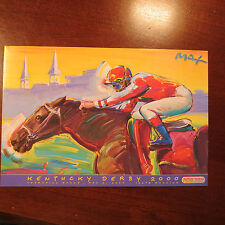 PETER MAX PRINT CARD - KENTUCKY DERBY 2000-126TH RUNNING-CHURCHILL DOWNS