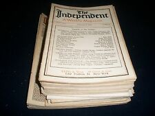 1913 THE INDEPENDENT MAGAZINE LOT OF 31 ISSUES - GREAT ADS & PHOTOS - WR 741