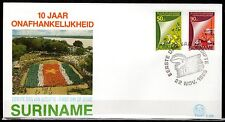 Suriname - 1985 10 years independence - Mi. 1163-64 clean FDC