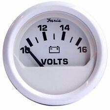 Faria Dress White Gauge 13120 Voltmeter 10 - 16 VDC MD