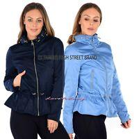 Ladies EX M&S per una Storm Wear Jacket Lightweight Outdoor Peplum Coat size8-24