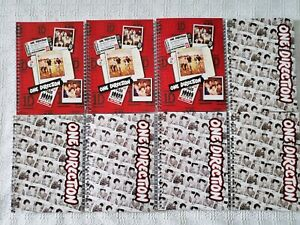 One Direction 1D 8 Spiral Journal Notebooks 80 Sheet Wide Ruled White Red NEW *K