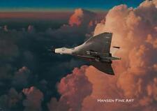 Avro vulcan v bomber jet aircraft avion plane anniversaire fête des pères carte vierge