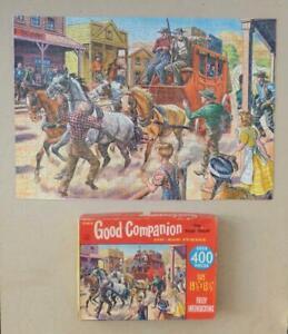"COWBOY/ WILD WEST 'GOOD COMPANION' 1960s Jigsaw Puzzle 400pc - ""The Stage Coach"""