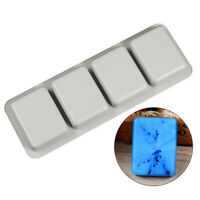 DIY Silicone Soap Mold for Handmade Soap Making Forms 3D Mould Square Soap Mo J#